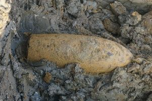 An example of what a typical unexploded bomb would have looked like.