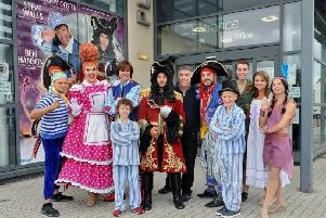 Stars of the Peter Pan pantomime which will be performed at Playhouse Whitley Bay.