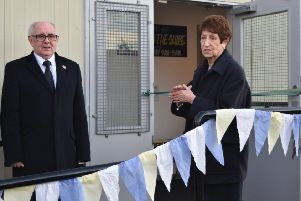 Elected Mayor Norma Redfearn and Coun Tommy Mulvenna officially open North Tyneside Disability Forum's new cafe.