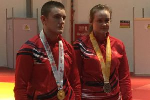 Gold and bronze for Dan and Denise