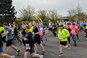 Runners start the North Tyneside 10k road race.