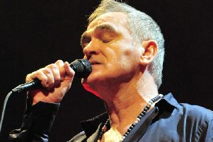 Morrissey performing at the Metro Radio Arena in Newcastle in his first North East date in 10 years Pic: Carl Chambers.