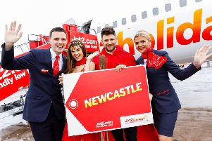 Jet2 has launched two new summer destinations from Newcastle Airport. Harry Potter actor Stanislav Yevetski, centre.