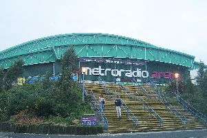 The Metro Radio Arena.
