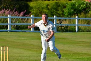 Ashington CC's spin bowler Paul Rutherford. Picture by Ian Appleby - www.ianapplebyimages.com