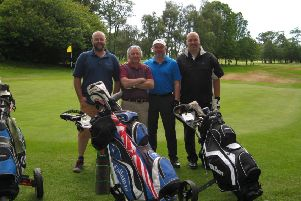 golfers at Arcot Hall Golf Club for charity golf day