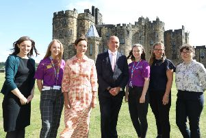The launch of #iwill at Alnwick Castle.