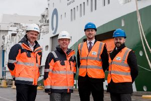 Paul Parry, business development of Port Training Services; Martin Lawlor, chief executive at Port of Blyth; Marc McPake, director of business partnerships at Newcastle College Group; Jon Ridley, assistant principal at Newcastle College Group.