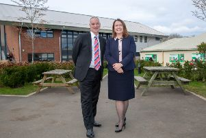 Rob Lawson and Ellen Thinnesen at Northumberland College's Kirkley Hall Campus.