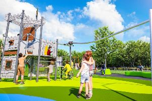 An artist impression of how the new play area in Ashington's People Park would look.