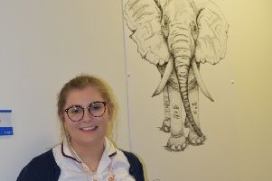 Holly Metcalf unveils her wildlife drawings at The Northumbria.