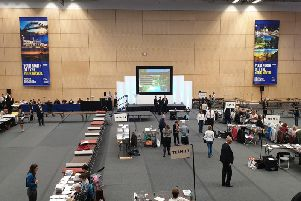 The count for the first North of Tyne mayor is under way in Newcastle.