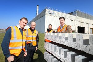 Key Lynx Precast Limited and Advance Northumberland personnel outside the factory. Picture by Crest Photography.