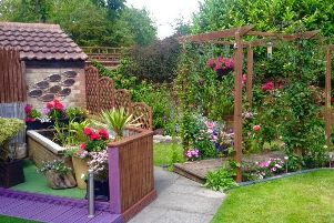 One of the winners from last year's garden competition held by Ashington Town Council.