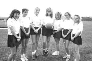 Remember when from 30 years ago, Coquet High School netball team