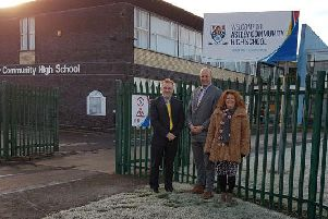 Coun Wayne Daley, deputy leader and cabinet member for childrens services at Northumberland County Council; John Barnes, executive headteacher of the Seaton Valley Federation; and Coun Susan Dungworth, chairman of governors at the Seaton Valley Federation.