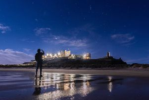 Cracking picture from Jake Nicholas Bates of Bamburgh Castle and the beach bathed in moonlight on a freezing night. 312 Facebook likes