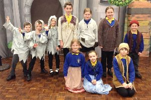 St Michael's pupils in The Selfish Giant.