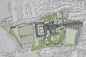 The proposed scheme for the new school buildings at Hexham, although this is subject to change during the procurement process.