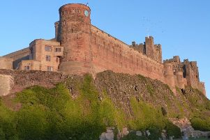 JOINT FIRST: The late afternoon sun makes Bamburgh Castle glow. A lovely picture from Andrea Field. 137 Facebook likes
