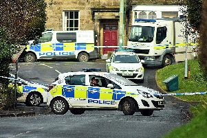An area of Glanton is sealed off by police. Picture by Steve Miller