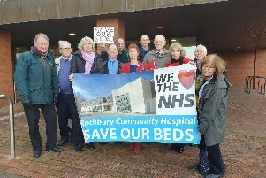 Campaigners from Rothbury at a council meeting before Christmas.