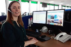 Katie Asher, patient care advisor in Northumbria Healthcare NHS Foundation Trust's contact centre.