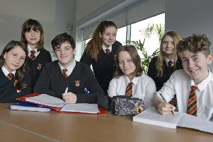 Members of the Duchess's Community High School poetry club.' Picture by Jane Coltman