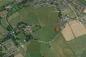 The site of the proposed homes to the south of Rothbury.