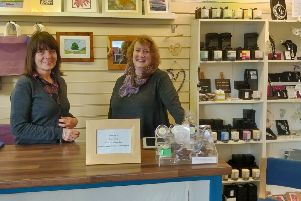 Juline Batchelor and Diana Fitzpatrick at Elements Art and Craft Gallery in Rothbury. Picture by Katie Scott.