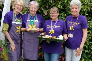 Some of the HospiceCare North Northumberland volunteers.