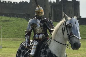 Jousting at Alnwick Castle.