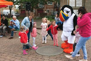 Having fun at Amble Puffin Festival. Picture by The Ambler
