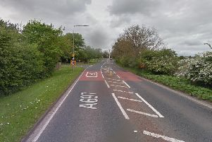 The A697 at Longhorsley. Picture from Google Images