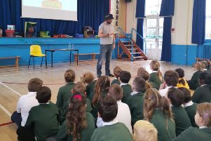 Mr Gum author visits children at Willow Tree school