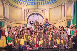 Brownies take to stage at panto