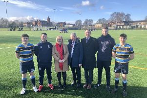 Lions lengend helps open pitch