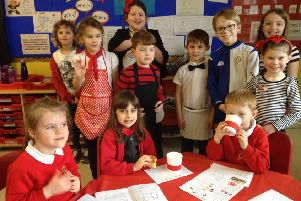 Pupils run French cafe