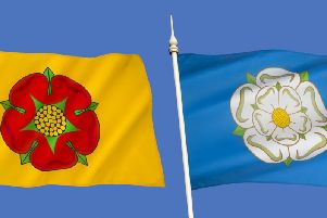 A playful rivalry between Yorkshire and Lancashire still exists