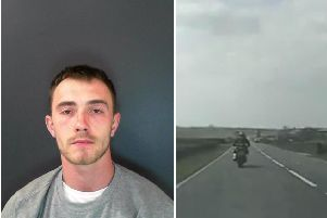 The dramatic footage shows the high speed police chase. Photo & video: North Yorkshire Police