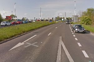 The cyclist was travelling on the A1036 interchange at Askham Bar
