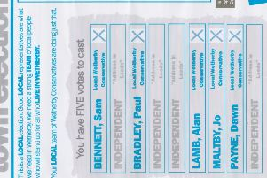 Election flyer row