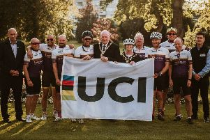 Intrepid Yorkshire team cycled from  Innsbruck to Harrogate as part of the first ever charity UCI Road World Championships Flag Relay