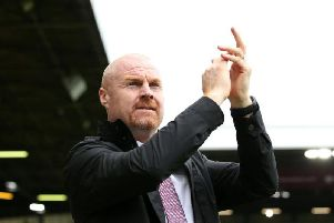 Burnley boss Sean Dyche ahead of the game against Everton at Turf Moor