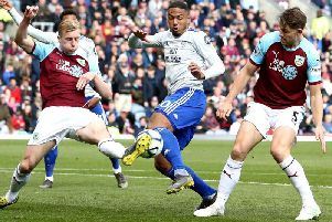 Ben Mee and James Tarkowski snuff out the danger at Turf Moor