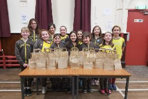 Sabden 1st Brownies and the gift bags they made