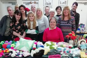 Members at a recent craft fair