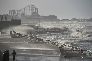 Storm Dennis is set to batter the many parts of England and Wales this weekend.(Photo by OLI SCARFF/AFP via Getty Images)