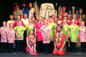 The cast of this year's production of Treasure Island A Musical Panto by Greenbrook Pantomime Society