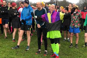Some runners turned out in fancy dress to celebrate the occasion